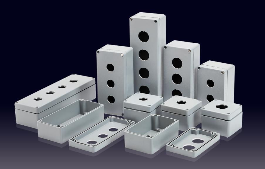 鑄鋁按鈕盒(1-5孔)